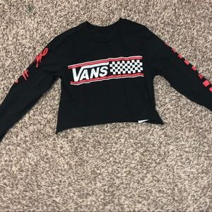 vans | small | long sleeve crop top